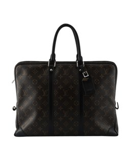 Louis Vuitton Porte Documents Voyage Macassar Business Bag (126714)