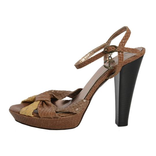 a5ae32035a4e01 Just Cavalli Multi-color Leather High Heels Ankle Strap Open Sandals ...