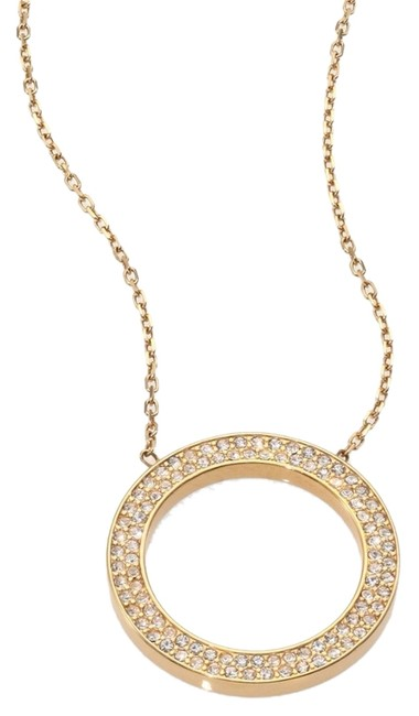 Item - Yellow Gold Pave Circle Necklace