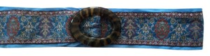 Other Blue and tortishell ribbon belt