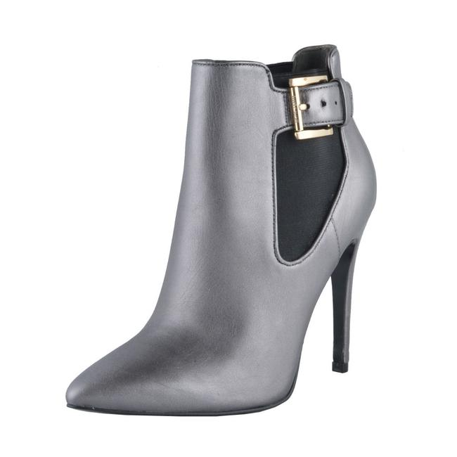 Item - Silver Gray Women's Leather High Heel Ankle Boots/Booties Size US 10 Regular (M, B)