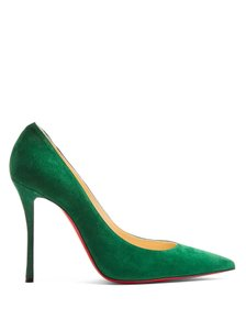 Christian Louboutin Decoltish Suede Jungle Green Pumps