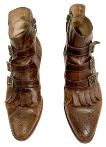 Modern Vice Leather Distressed Cognac Boots