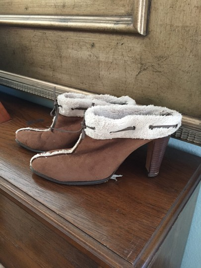 Anne Klein New York Brown and cream Boots