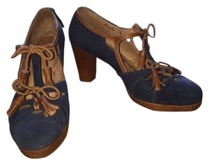 Anthropologie Navy/brown Pumps