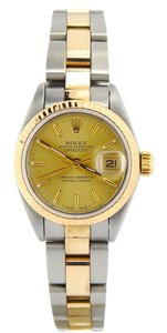 Rolex Ladies Rolex Two-Tone 18K/SS Datejust Champagne 69173