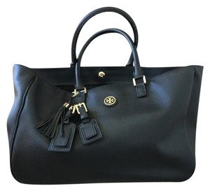 Tory Burch Roslyn Large Work Tote in Black