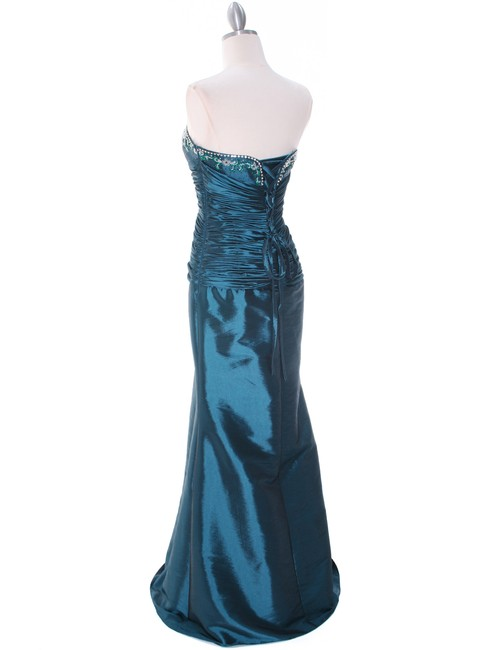 Jade Taffeta Evening Gown with Bolero Long Formal Dress Size 6 (S ...