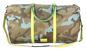 Valentino Camouflage Camo Rockstud Limited Edition Runway brown Travel Bag