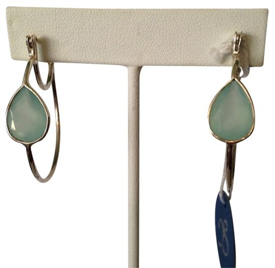 JS Collections Faceted Blue Chalcedony Gemstone In Sterling Silver