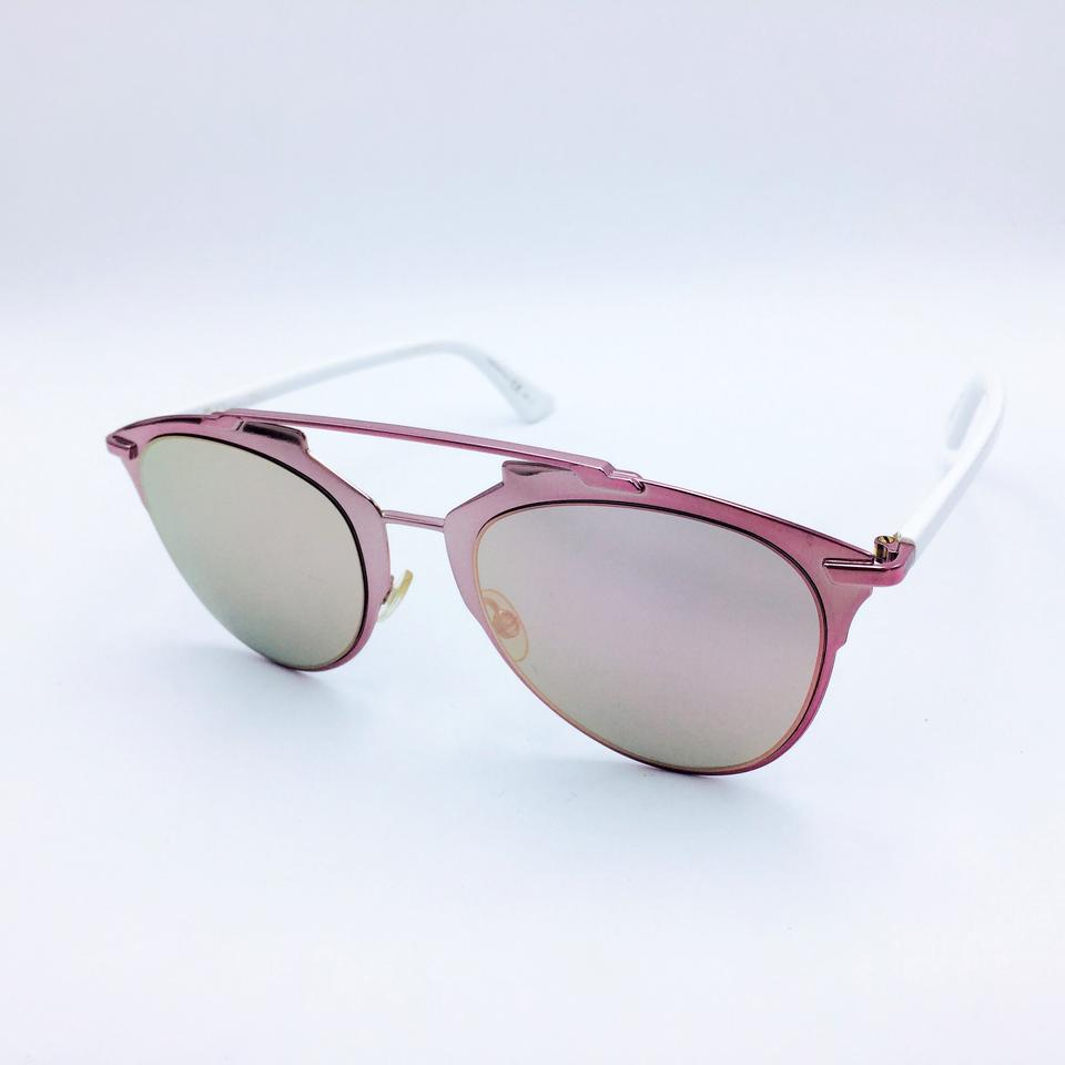 5aa396c7a119 Dior Pink Rose Reflected Mirrored Aviator Cat Eye Sunglasses M2QOJ Image 8.  123456789