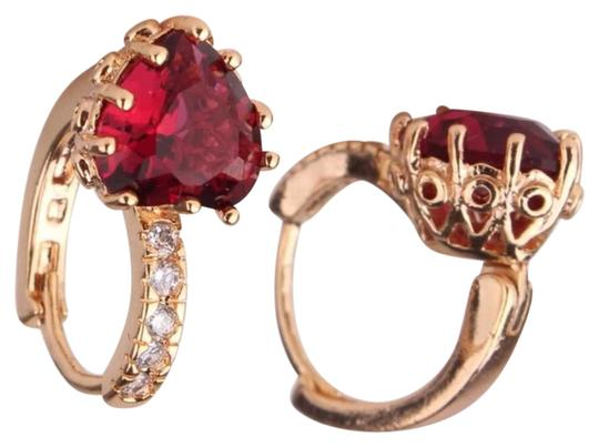 Preload https://img-static.tradesy.com/item/21523861/gold-plated-with-redff-gold-color-aaa-zirconia-crystal-huggie-for-women-earrings-0-1-540-540.jpg