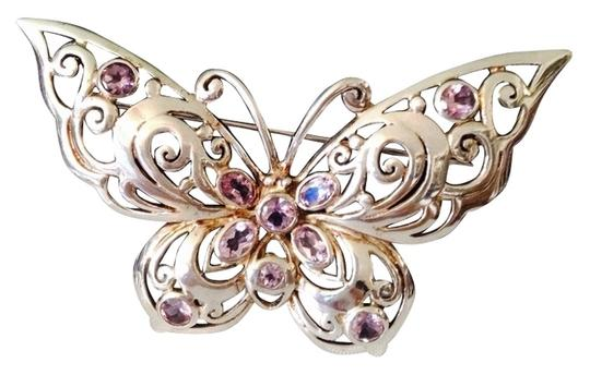 Preload https://item2.tradesy.com/images/silverpurple-faceted-amethyst-and-sterling-butterfly-pin-2152401-0-0.jpg?width=440&height=440