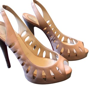 Christian Louboutin blush pink Platforms