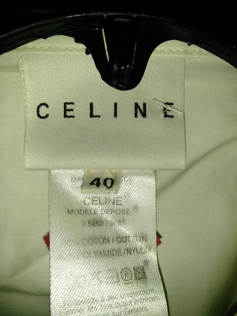 Céline White Made In France Small Cotton and Nylon Light Bomber Jacket Size 6 (S) Céline White Made In France Small Cotton and Nylon Light Bomber Jacket Size 6 (S) Image 2