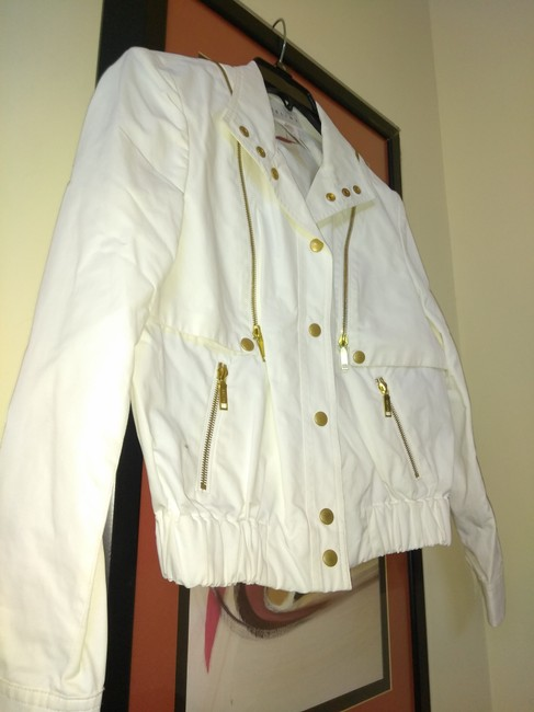 Céline White Made In France Small Cotton and Nylon Light Bomber Jacket Size 6 (S) Céline White Made In France Small Cotton and Nylon Light Bomber Jacket Size 6 (S) Image 3