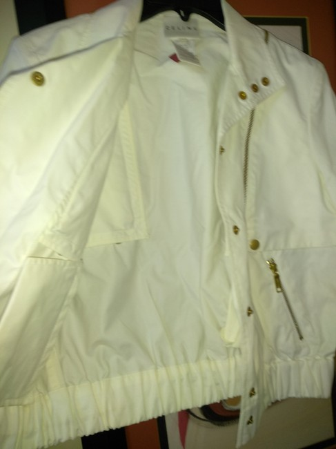 Céline White Made In France Small Cotton and Nylon Light Bomber Jacket Size 6 (S) Céline White Made In France Small Cotton and Nylon Light Bomber Jacket Size 6 (S) Image 5