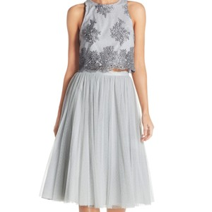 Donna Morgan Whisper Lace/Tulle Beatrix Top Skirt Traditional Bridesmaid/Mob Dress Size 6 (S)