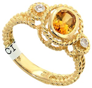 ABC Jewelry Fashion Citrine And Diamond Ring