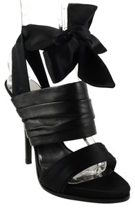 Guess By Marciano Sunday Satin Ankle Strap Exclusive Black Sandals