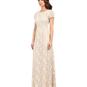 Donna Morgan Fawn Lace Alice Traditional Bridesmaid/Mob Dress Size 8 (M)