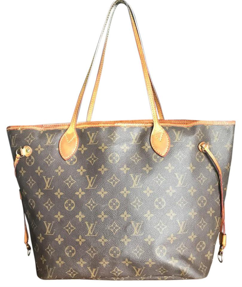 louis vuitton neverfull mm brown tote bag on sale 11 off autos post. Black Bedroom Furniture Sets. Home Design Ideas