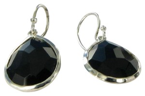 Ippolita Rock Candy Small Teardrop Earrings Black Onyx Sterling Silver SE118NX