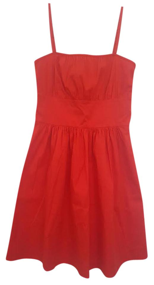 25e9f181160 Theory Red Yumi Luxe Spaghetti Strap 0 Mid-length Short Casual Dress ...