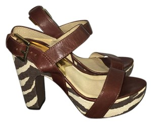 Michael Kors Collection Brown and cream Sandals