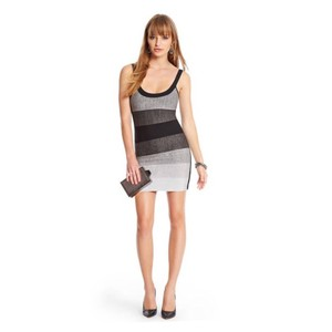 Guess By Marciano Bandage Silver Mini New Dress