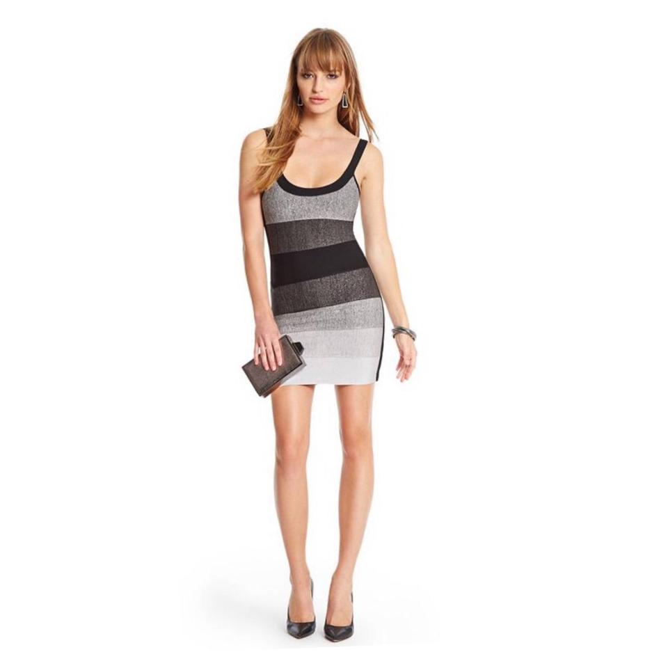 Guess By Marciano Black Linden Ombre Bandage Short Cocktail Dress ...