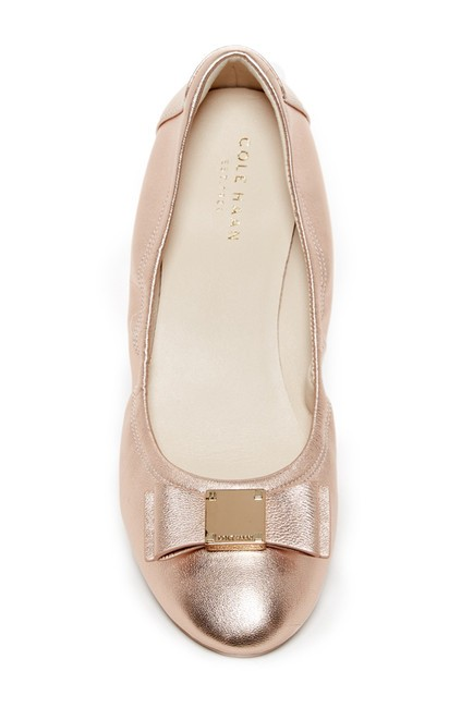 Item - Rose Gold Metallic Tali Bow Ballet Flats Size US 11 Regular (M, B)