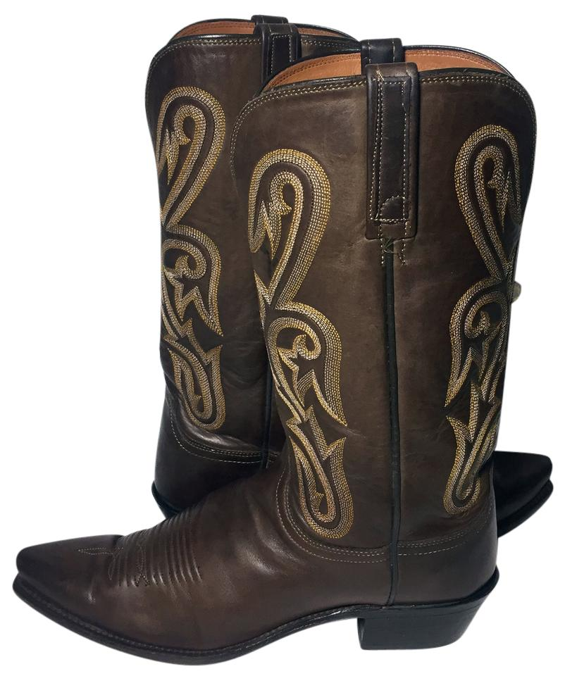 b887c4206dc Lucchese Brown 1883 Leather Cowboy Cowgirl Riding Women's Boots/Booties  Size US 10 Regular (M, B) 51% off retail