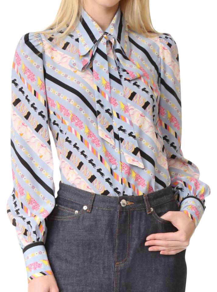 ec2ab543a57466 Marc Jacobs Pastel Puff Sleeve Button Down Blouse Size 2 (XS) - Tradesy
