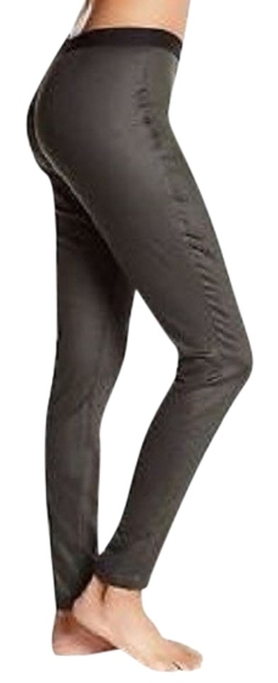 ef3c402771abf Eileen Fisher Leggings Coated Denim Pull On Stretchy Skinny Pants DEEP  OLIVE Image 0 ...