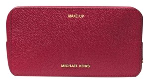 Michael Kors Jet Set Travel Leather Cosmetic Pouch