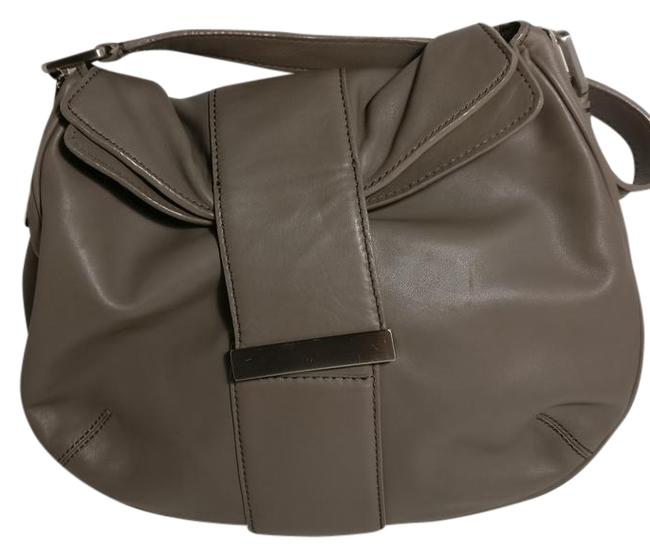 Item - Grey Leather Shoulder Bag
