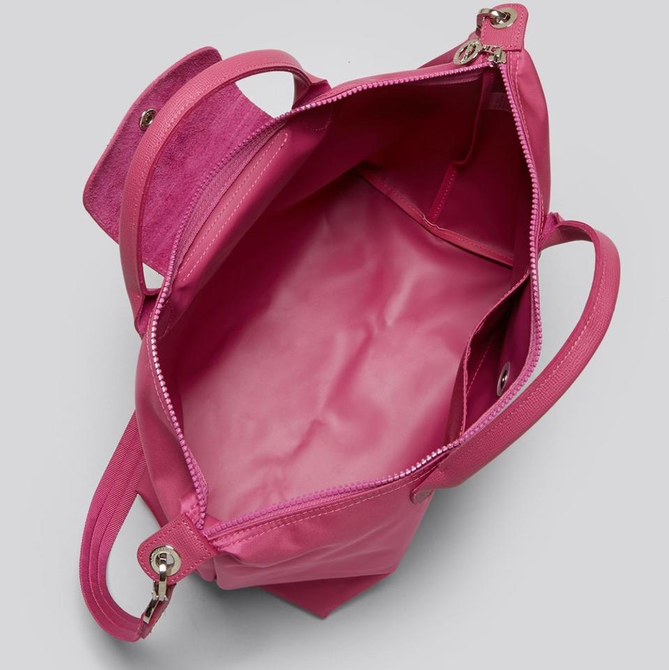 Longchamp Le Pliage Neo Small Short Handle Hydrangea ( Hot Pink ... bc80c90ceec71