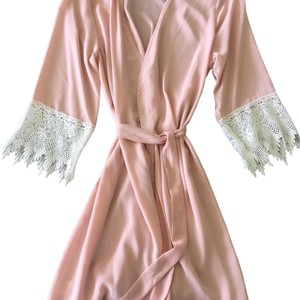 Blush Rose With Lace Trimmed Sleeves (Size Xs)- Shopdesertprimrose Other