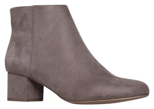 J. Adams Ankle Zipper Round Toe Heels Smokey Taupe Boots