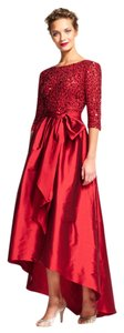 Adrianna Papell Sequin High Low Dress