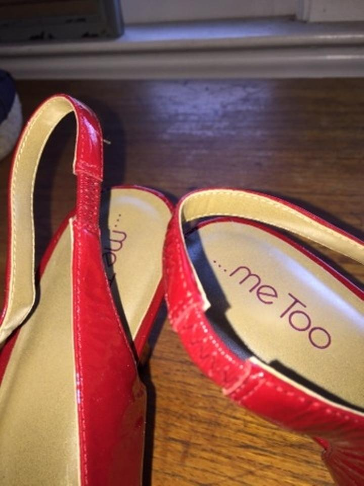 71b231cfae5 Me Too Red Panther Slingback Open Toe Pumps Size US 11 Regular (M