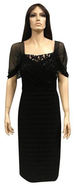 Preload https://img-static.tradesy.com/item/21527875/adrianna-papell-black-lace-pleat-w-tags-mid-length-night-out-dress-size-18-xl-plus-0x-0-1-650-650.jpg