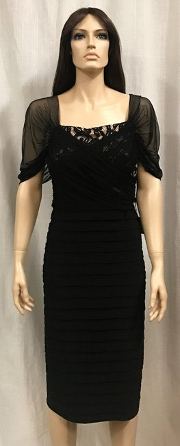 Adrianna Papell Lace Pleat Dress Image 10