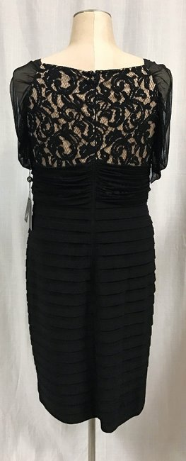 Adrianna Papell Lace Pleat Dress Image 4