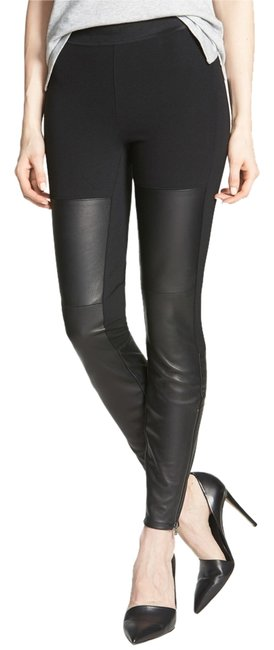 Item - Black Genuine Leather High Waist Pants Leggings Size 2 (XS, 26)