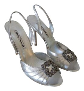 Manolo Blahnik Wedding Jimmy Choo silver Formal