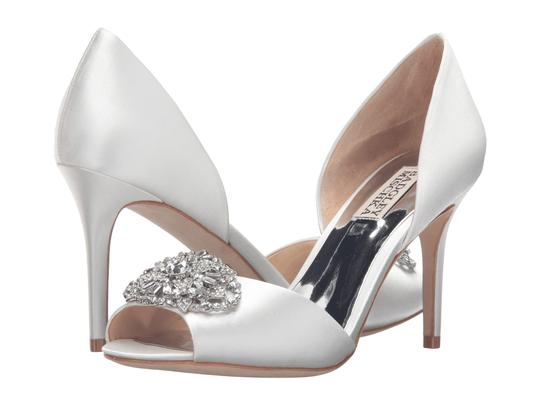 Preload https://img-static.tradesy.com/item/21528177/badgley-mischka-white-dana-satin-and-crystal-peep-toe-pump-bridal-formal-shoes-size-us-5-regular-m-b-0-0-540-540.jpg