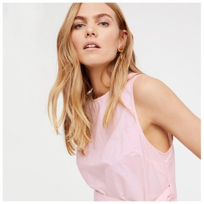 Other Cut-out Belted Top Pastel Pink Image 4