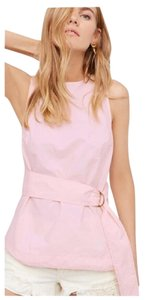 Other Cut-out Belted Top Pastel Pink